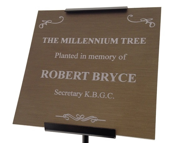 ENGRAVED METAL MEMORIAL PLAQUES