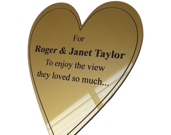 Engraved Plastic Memorial Plaques