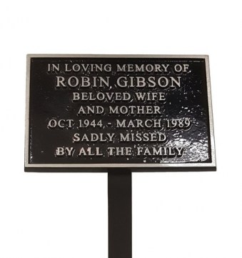 Cast Aluminium Memorial Plaque, 150mm x 100mm, 370mm Stake