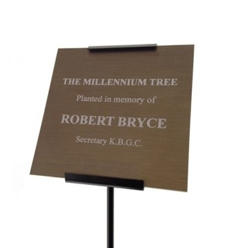 Bronze Anodised Aluminium Memorial Plaque