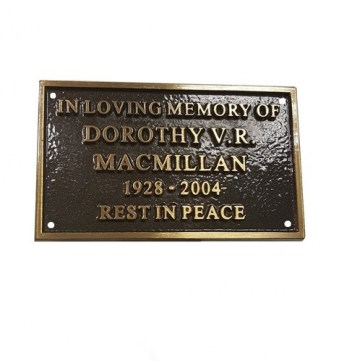 Cast Bronze Nameplate 152mm x 102mm
