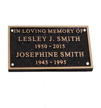 Cast Bronze Flower Nameplate 152mm x 102mm