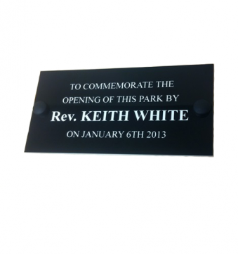 Engraved Plastic Bench Plaque