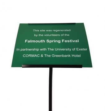 Green Plastic Commemorative Plaque