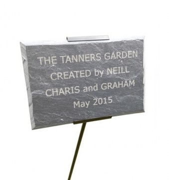 Engraved Slate Memorial Plaque