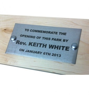 Stainless Steel Bench Plaque