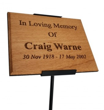 Engraved Cherry Memorial Plaque